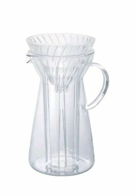 Hario V-60 Glass Pour-Over Coffee Maker. Makes Hot and Iced Pour-Over