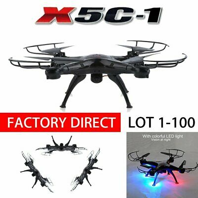 X5C-1 2.4Ghz RC Quadcopter Drone with HD Camera RTF Black White LOT 1-100 MAX