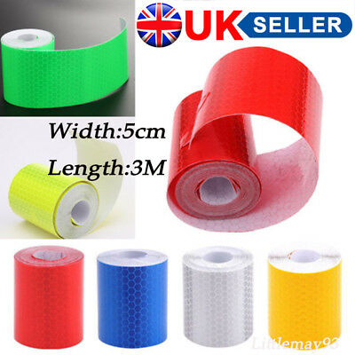 3PCS 3M Reflector Tape Hi Vis Safety Car Bicycle Cycling DIY Reflective Stickers