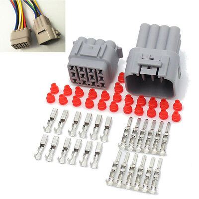1 Set Car 12 Pin Sealed Waterproof Electrical Wire Male Female Connector Plug