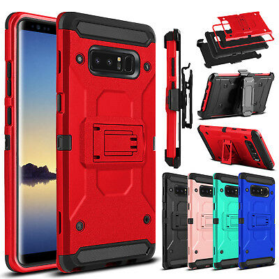 For Samsung Galaxy S9 Plus/S8 /Note 8 Case Belt Clip Holster Stand Armor