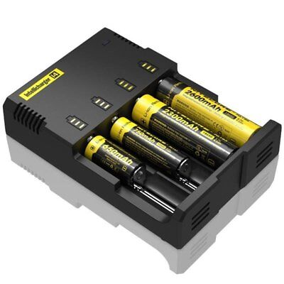 Nitecore i4 Intellicharge Li-ion Battery Charger 26650 18650 AA /AAA Universal