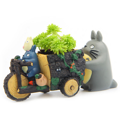Resin Hayao Miyazaki Totoro Figurines Mini Flower Pot Ornaments Potted Garden