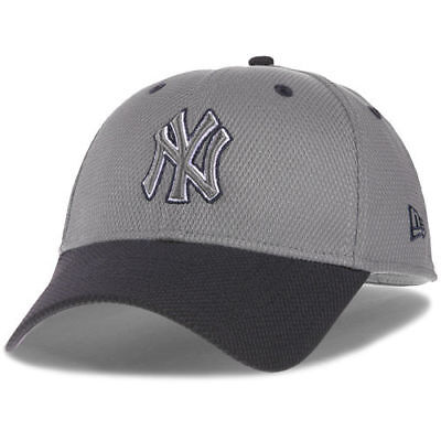 4a7888dc5e57c New Era New York Yankees Gray Navy Team Addict Diamond Era 39THIRTY Flex Hat