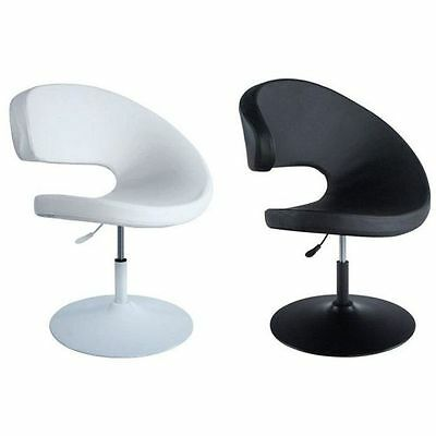 Armchair Comma Rotating Lift Black White Design 70's Base Patented