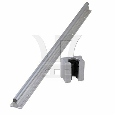 2 pcs 50cm Linear Bearing Rail w/ Open Linear Bearing Slide Block Silver