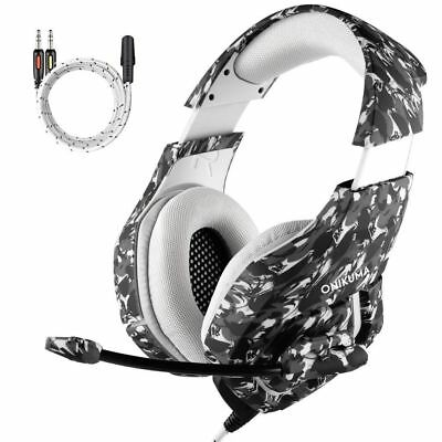 PS4 Gaming Headset, MillSO Camouflage 3.5mm Over-ear PC Gaming Headphone for New