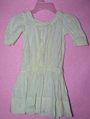 Vintage Victorian Baby  Christening Gown Dress WORE OUT prim laundry decor