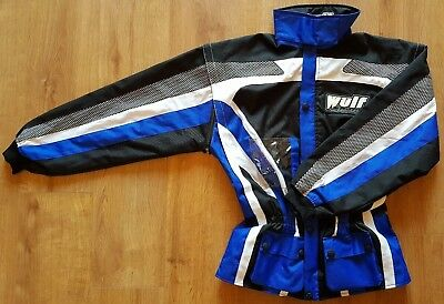 Wulfsport Adult Raid Motocross MX Enduro Motorbike Jacket - Blue S 40""