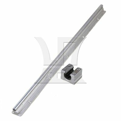 50cm SBR10 CNC Linear Motion Bearing Rail & Open Bearing Slide Set of 2 Silver