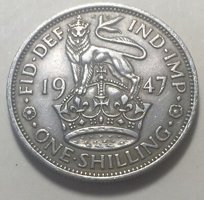 Great Britain (UK) 1947 One Shilling (England Version) Coin - King George VI