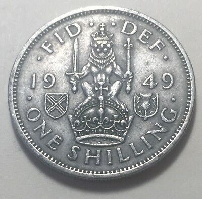 Great Britain (UK) 1949 One Shilling (Scotland Version) Coin - King George VI