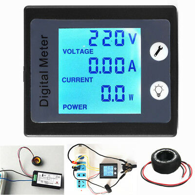 AC80V-260V 100A Digital Power Energy Meter Voltage Tester Ammeter Voltmeter Tran