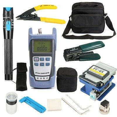 LiteArk TK16 12-IN-1 Fiber Optic FTTH Tool Kit Power Meter FC-6S Fiber Cleaver