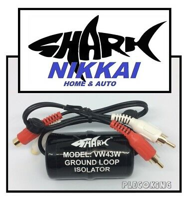 NAKKAI - SHARK - Ground Loop Isolator removes earth-loop / hums RRP £19.99 VW43W
