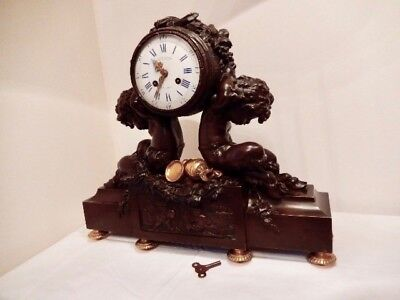 19th Century French Mantle Clock by Victor Paillard (1805 - 1886)