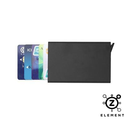 New Metal ID Credit Card Holder RFID Protector Aluminum Black Slider