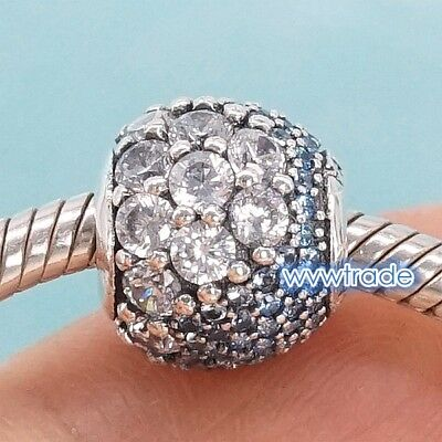 925 Sterling  Enchanted Pave Multi-Colored CZ fit European Charm Bead 2018