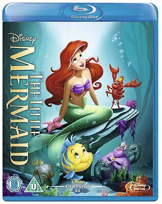 The Little Mermaid (1989) Blu-Ray Disney BRAND NEW Free Shipping