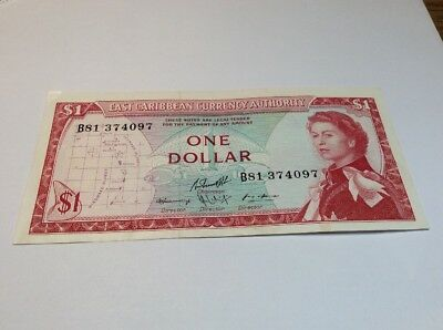 1 Dollar Nd 1965 east Caribbean Currency Authority P-13e Good Ostkaribisch
