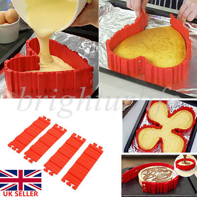 4Pcs Nonstick Silicone Cake heart Mold Magic Bake Snakes Diy Mould Baking Tools