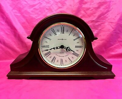 Howard Miller 75th Anniversary Mantel Dual Chiming Quartz Clock Nice