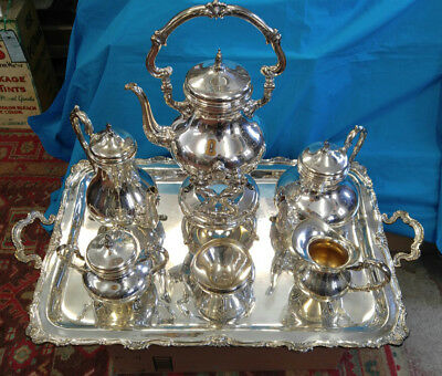 "Best Camusso Sterling Silver Coffee Tea 30"" Tray Service Set 8455 Grams"