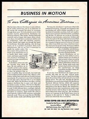 1951 Revere Copper and Brass Incorporated Business Message Vintage PRINT AD 50s
