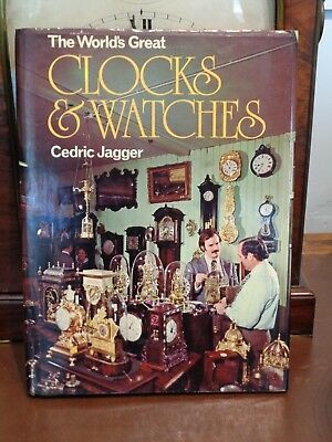 "CLOCKS & WATCHES Book by Cedric Jagger"" Hardback  bracket case fusee lantern"