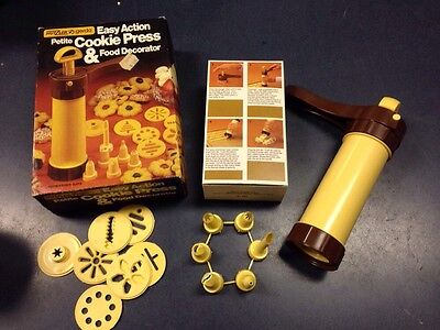 Vintage Hutzler Petite easy action cookie press food decorator NOS Christmas