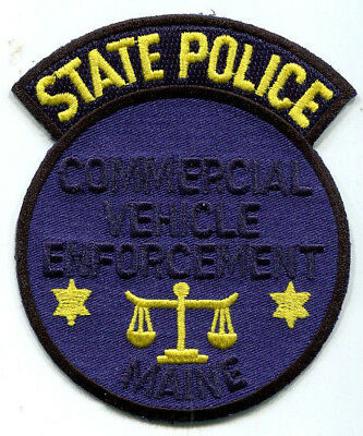 Maine State Police Commercial Vehicle Enforcement Patch // FREE US SHIPPING!
