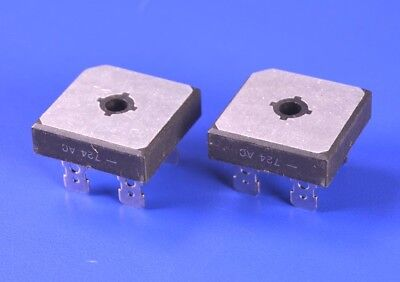 2 (Two) Diodes, Inc. 100V 50A Full-Wave Rectifier Bridge P/N: GBPC1501