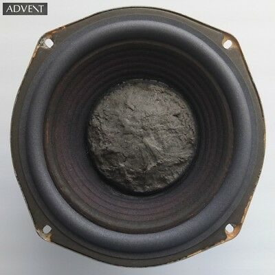 """one THE SMALLER ADVENT LOUDSPEAKER 9½"""" woofer from 1972, very neatly refoamed"""