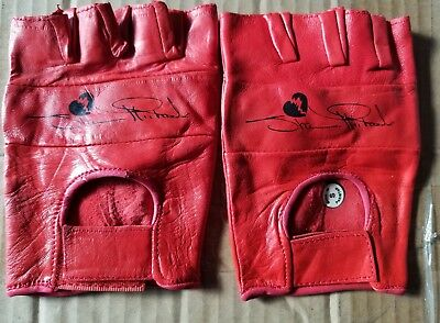 cheap for discount 70b83 101ad WWF The Heartbreak Kid Shawn Michaels Red Leather Gloves WWE HBK Size small