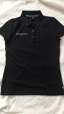 Genuine Mercedes-Benz Petronas AMG ladies fitted TShirt size medium 8-10