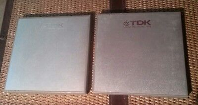 """2 - TDK 7"""" Magnetic Reel to Reel Tapes, Unrecorded"""