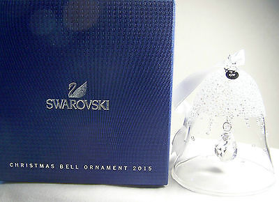 Beautiful Swarovski Crystal 2015 Annual Limited Edition Bell Ornament