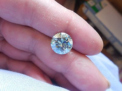 Fiery 4.80 ct Blue Color Round Loose Moissanite VVS1 11.35 mm