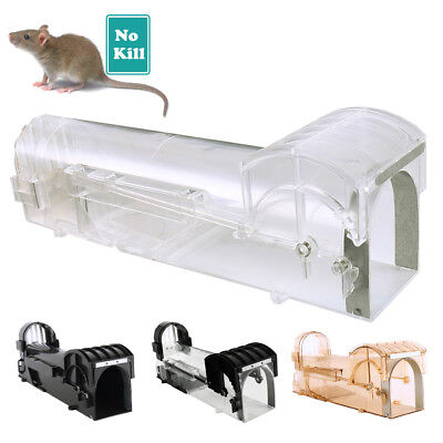 Humane Mouse Trap Catch Live Rat Cage Large Squirrel Bait Station Hamster Cheese