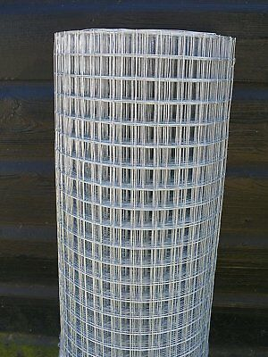 """4ft x 10m Welded Wire Mesh 1""""x1"""" Hole, 1.2m High, Galvanised steel Fencing Roll"""