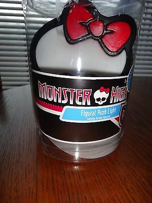 MONSTER HIGH Figural Push Light~Figure Glows~Tabletop Battery Operated~NEW