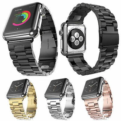 Stainless Steel Strap Watch Band Clasp For Apple Watch Series 3 4 iWatch 38/42mm