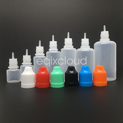 3-50ml Empty Plastic Bottle Childproof Cap Juice Liquid Dropper Bottles LDPE