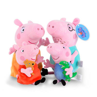 CUTE PLUSH GENUINE PEPPA PIG,GEORGE, MUMMY, DADDY 19 cm AUSSIE SELLER FAST POST