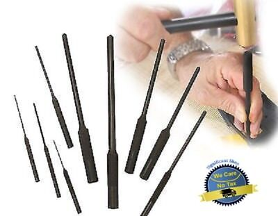 Military Gunsmith Heat Treated Set Forged Steel Roll Pin Punch Cleaning w Case