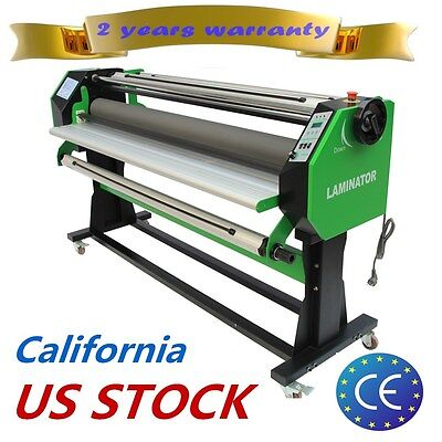 "US Free shiping 110V 67"" Stand Frame Full-auto Wide One Side Hot/ Cold Laminator"