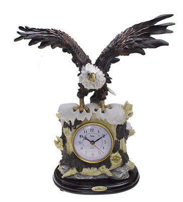The Eagle Table Clock Hawk Sculptural Shelf Clock Classic Artistic Home Decor