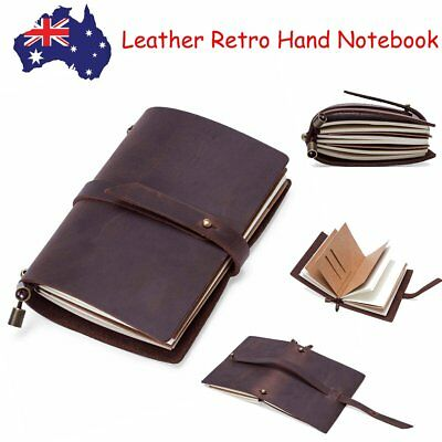 Vintage Handmade Real Leather Cover Notebook Travel Diaries Journals Sketchbook