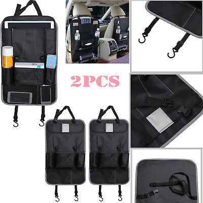 2pc Car Back Seat Tidy Organiser Storage Pocket Pouch Travel Kid Baby Bag Holder