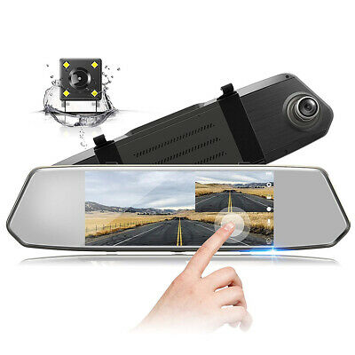 "Jeemak 4"" LCD Dual Dash Cam Camera Car Rear View Backup Reversing Reverse Camera"